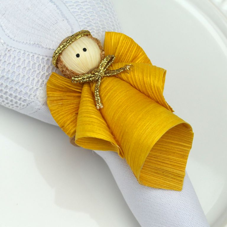 zAnjo Porta Guardanapo - Anjo Amarelo