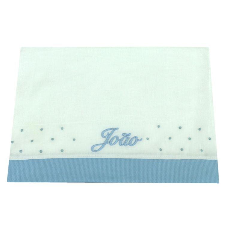Fralda Personalizada Azul - de R$ 29,92 a R$ 35,20 - Desconto Progressivo