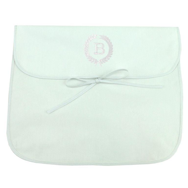 Saco Maternidade Ramos Iniciais Personalizado Branco (até 2 letras) - De R$ 49,60 a R$ 62,00 - Desconto Progressivo