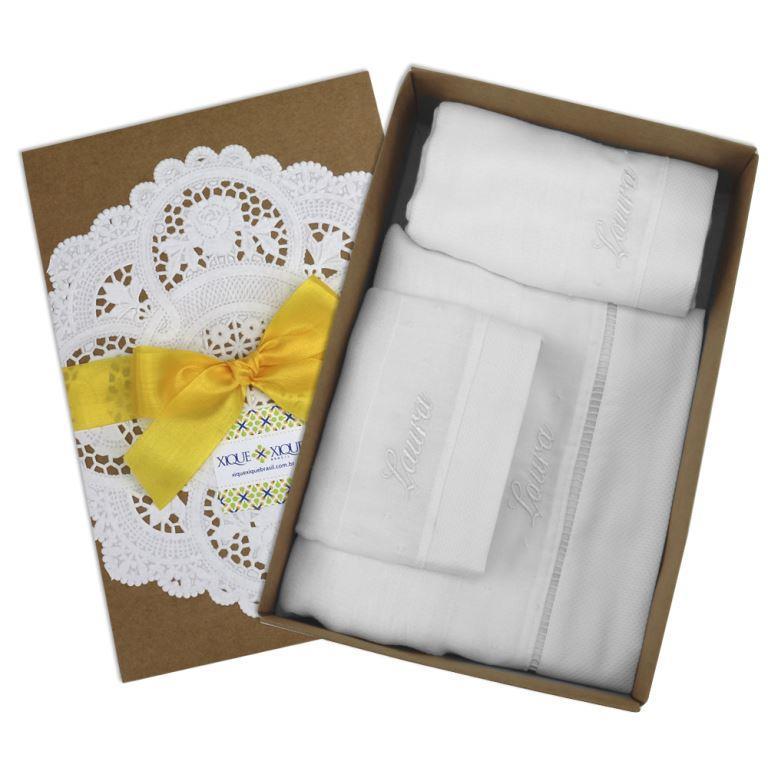 Kit Personalizado Branco - 3 peças