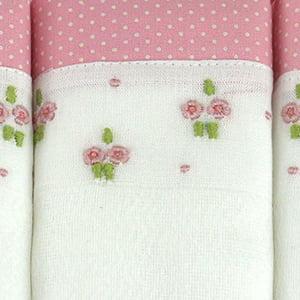 Kit Duo Floral Rosa - 3 peças
