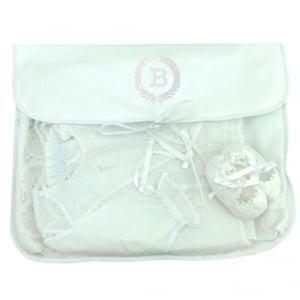 Saco Maternidade Ramos Iniciais Personalizado Branco (até 2 letras) - De R$ 49,60 a R$ 62,00 - Desconto Progressivo - Cópia (1)