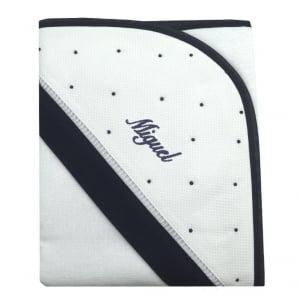 Toalha de banho com capuz personalizada marinho