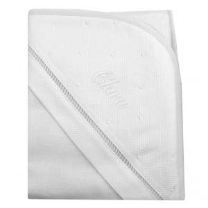 Toalha de banho com capuz personalizada branca