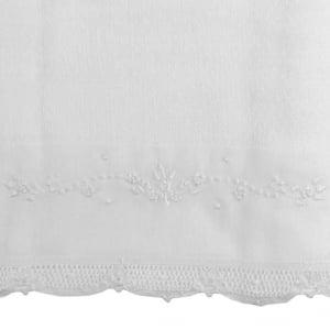 Toalha Fralda Renda Renascença Floral Branco