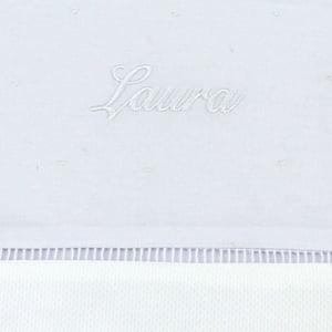Cueiro Lençol Xixi Personalizado Branco