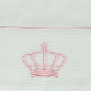 Lençol Xixi Coroa Rosa