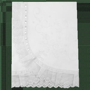 Manta Bordado Manual Branca Personalizada