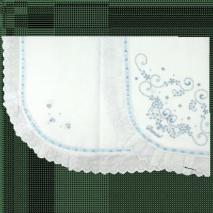 Manta Bordado Manual Azul Personalizada