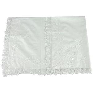 Manta Renda Renascença cambraia de algodão iv branca