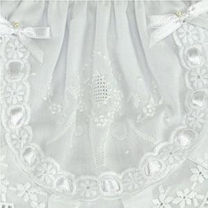 Calcinha bordado manual medalhão gota branco/branco