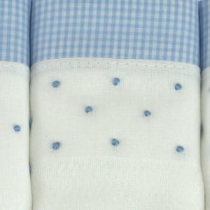 Fralda bordada poá azul - de R$ 24,91 a R$ 29,30 - Desconto Progressivo