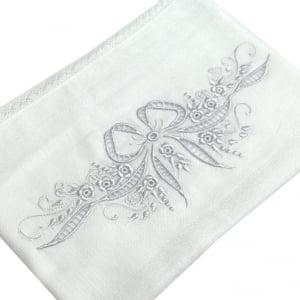 Fralda Richelieu Laço Branco - de R$ 54,32 a R$ 63,90 - Desconto Progressivo