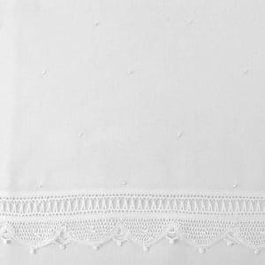 Jogo Lençol Berço Renda Renascença Poá Branco (2 peças)
