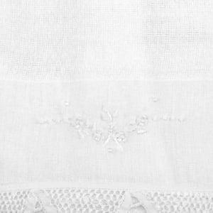 Pano Boca Chupeta Renda Renascença Floral Branco