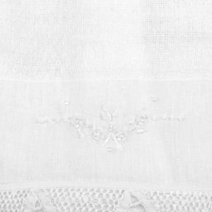 Pano Boca Chupeta Renda Renascença Floral Branco (unidade)