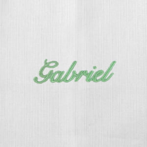 Pano Boca Personalizado Renda Renascença Nome Verde (até 2 nomes) - de R$ 33,92 a R$ 39,90 - Desconto Progressivo