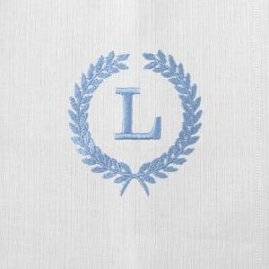 Pano Boca Personalizado Renda Renascença Ramos Iniciais Azul (até 2 letras) - de R$ 42,42 a R$ 49,90 - Desconto Progressivo