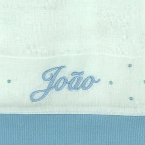 Pano Chupeta Personalizado Azul - de R$ 25,42 a R$ 29,90 - Desconto Progressivo