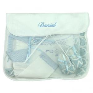 Saco Maternidade Nome Personalizado Azul (até 2 nomes) - De R$ 38,32 a R$ 47,90 - Desconto Progressivo