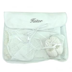 Saco Maternidade Personalizado Cinza (até 2 nomes) - kit com 3 unidades