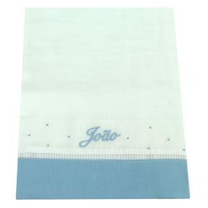 Toalha Fralda Personalizada Azul