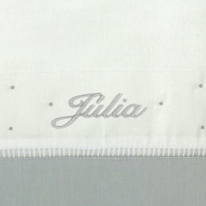 Toalha Fralda Personalizada Cinza
