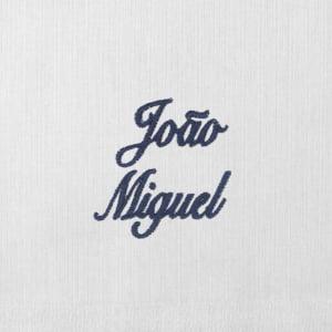 Toalha Fralda Personalizada Renda Renascença Nome Azul Marinho