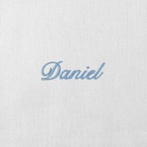 Toalha Fralda Personalizada Renda Renascença Nome (até 2 nomes) - Diversas Cores