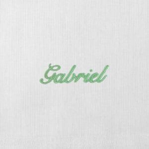Toalha Fralda Personalizada Renda Renascença Nome Verde