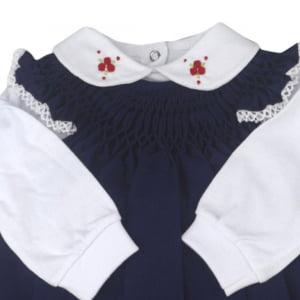 Vestido Casinha de Abelha com Pagão Marinho Rococó (RN)