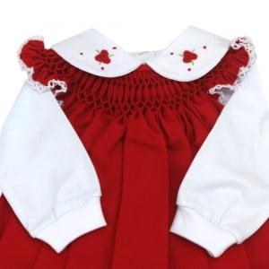 Vestido Casinha de Abelha com Pagão Vermelho Rococó (RN)
