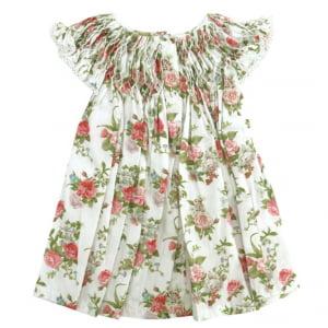 Vestido Casinha de Abelha Off White Floral (6, 12, 18 e 24 meses)