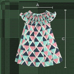 Vestido Casinha de Abelha Tri (6, 12, 18 e 24 meses)