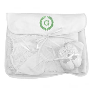 Saco Organizador Maternidade Personalizado Iniciais (até 2 letras) - Diversas Cores - De R$ 49,60 a R$ 62,00 - Desconto Progressivo