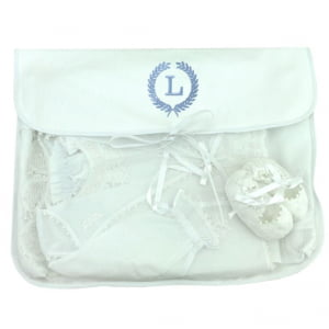 Saco Maternidade Ramos Iniciais Personalizado Azul (até 2 letras) - De R$ 49,60 a R$ 62,00 - Desconto Progressivo