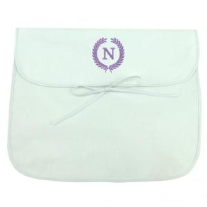 Saco Maternidade Ramos Iniciais Personalizado Lilás (até 2 letras) - De R$ 49,60 a R$ 62,00 - Desconto Progressivo