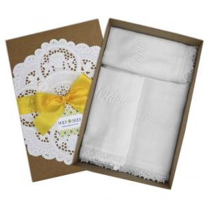 Kit Personalizado  Renda Renascença Branco - 3 peças