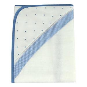 Toalha de banho com capuz poá azul